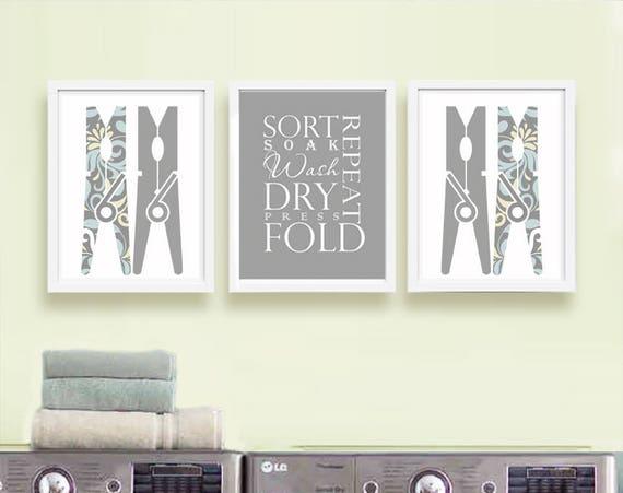 Laundry Room Wall Art Laundry Room Art Laundry Prints Laundry Etsy