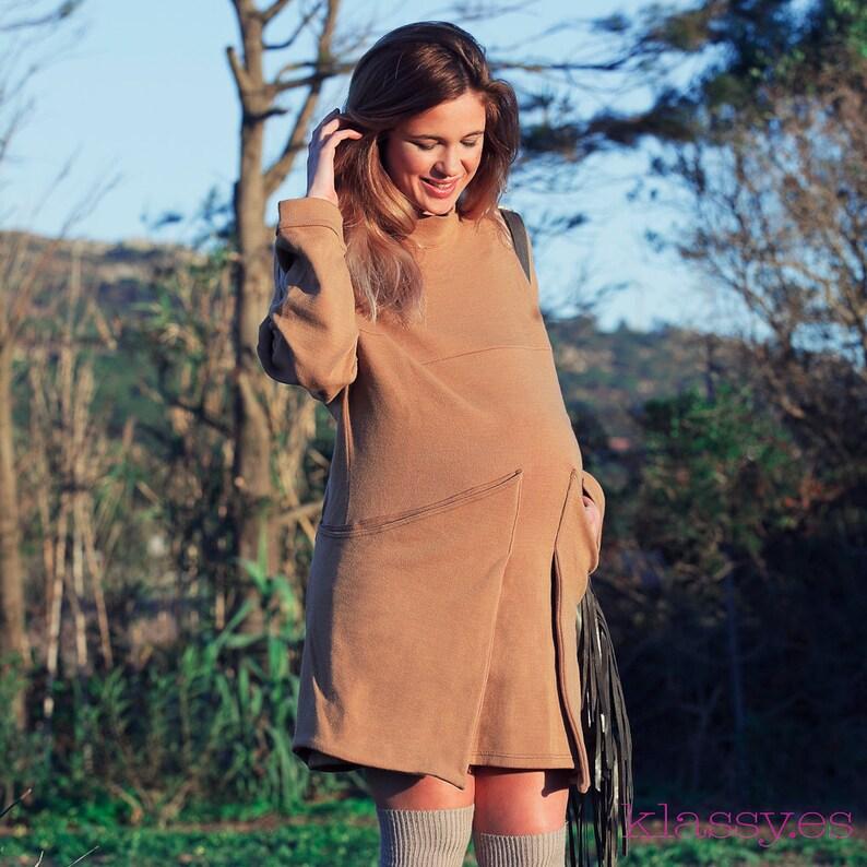 fff5464a6 Vestido embarazada invierno ropa premama invierno VASEF