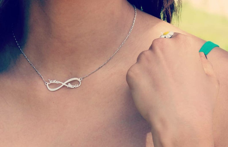 7d9849f278d51 Custom Infinity necklace with two names-sterling silver-Bolbo