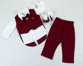 71b03bd549c0 Baby Boy Suit Baptism Gown Baptism Clothing Babyboy