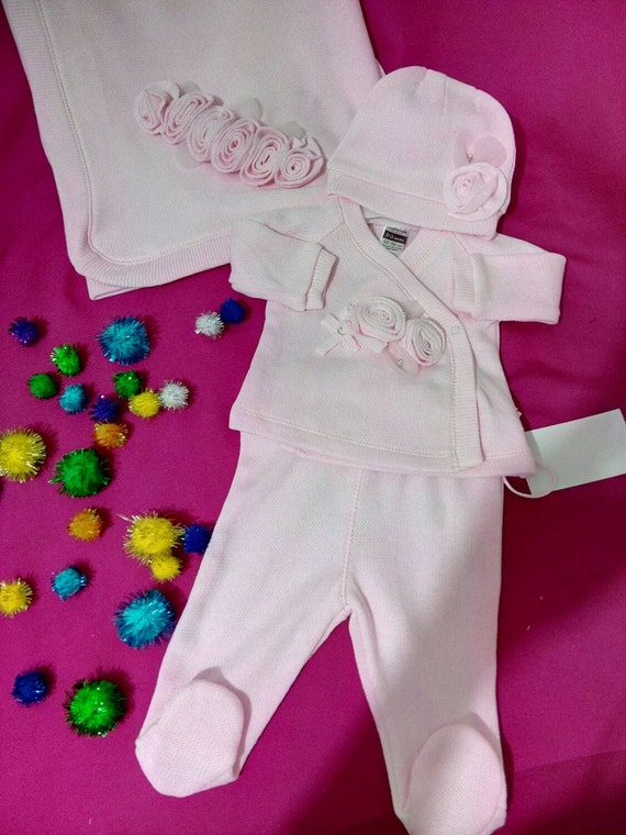 Baby Girl Newborn Royal Fancy Clothes Romper Outfit Set 0-3 and 3-6 Months