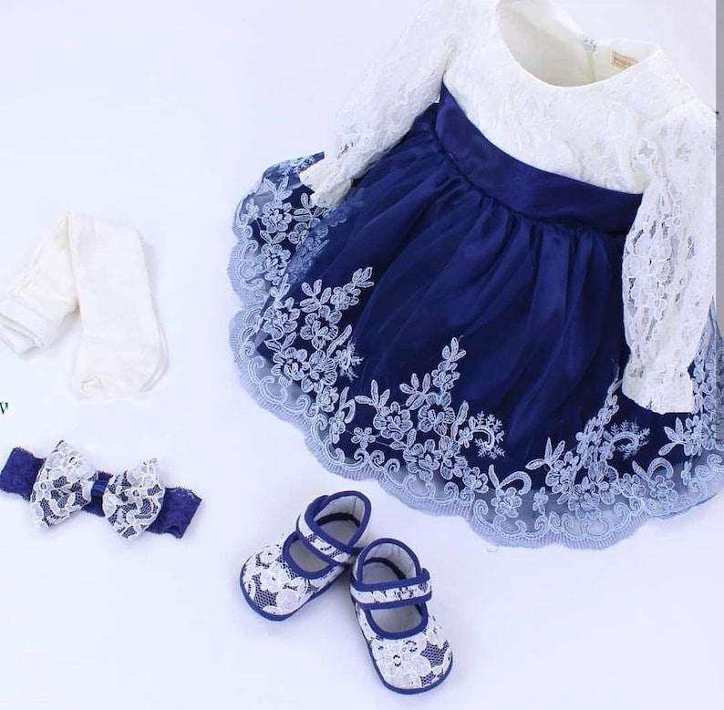 a2b0f7b76b3e Baby Girls Dress Set Wedding Dress Baby Christening Gown