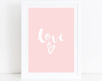 Love Print Pink Nursery Art Love Quote Daughter Gift Girls Room Decor Baby Girl Nursery Print Pink Nursery Wall Art Baby Girl Gift