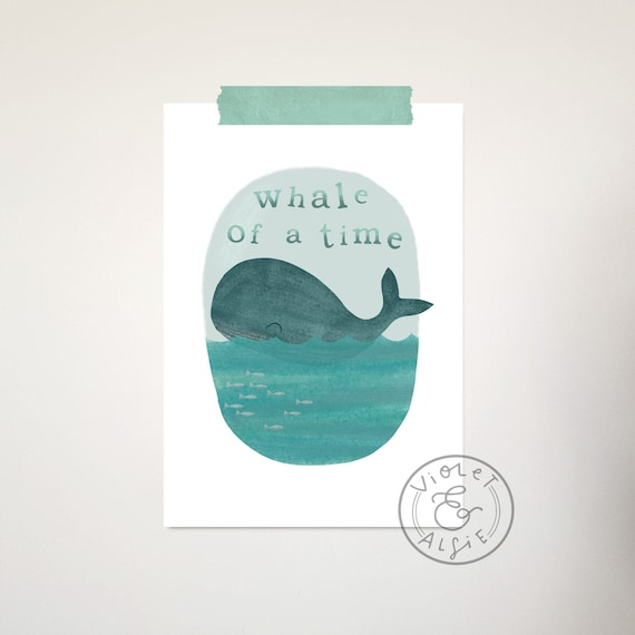 whale print nautical kids room decor unframed print boys room etsy rh etsy com Nautical Theme Classroom Nautical Decor and Furniture