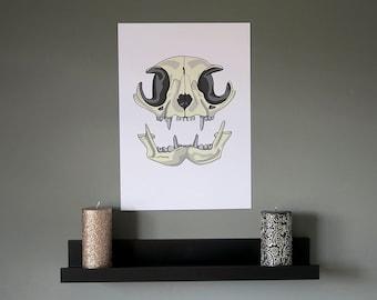 Cat skull print