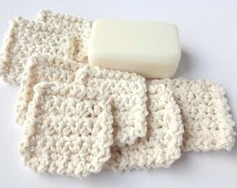 Square Facial Scrubbies - Natural - 100% Cotton - Reusable