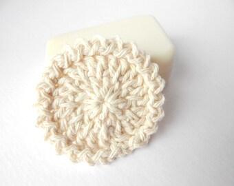 Reusable Round Cotton Facial Scrubbies - Set of 15 Natural