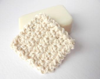 Reusable Cotton Square Facial Scrubbies - Set of 15 Natural/Ivory