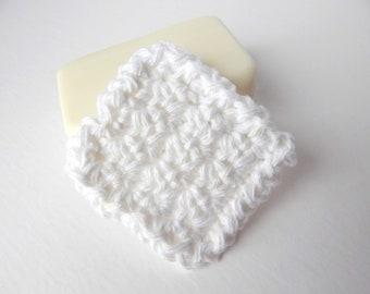 Reusable Cotton Square Facial Scrubbies - Set of 15 White