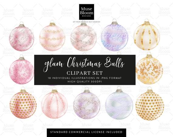 Glam Glitter Christmas Balls Ornaments Decoration Purple Etsy