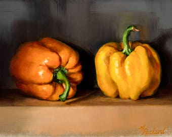 Bell Peppers Still Life Limited Edition Giclée Fine Art Print by Andrea Packard
