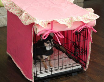 Small Dog Crate Cover, Custom crate cover