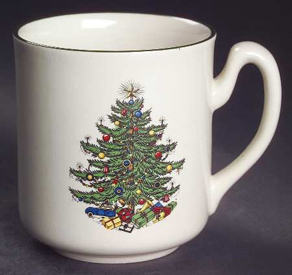 image 0 - Vintage Cuthbertson Original Christmas Tree Mug Tumblers Etsy
