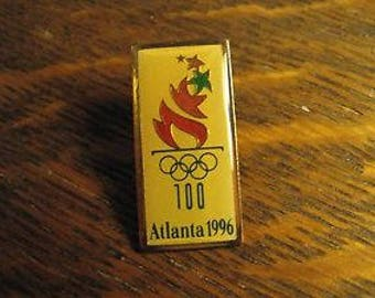 Atlanta, Georgia, USA 1996 Summer Olympics Sport, 100th Olympic Torch, Lapel or Hat Pin