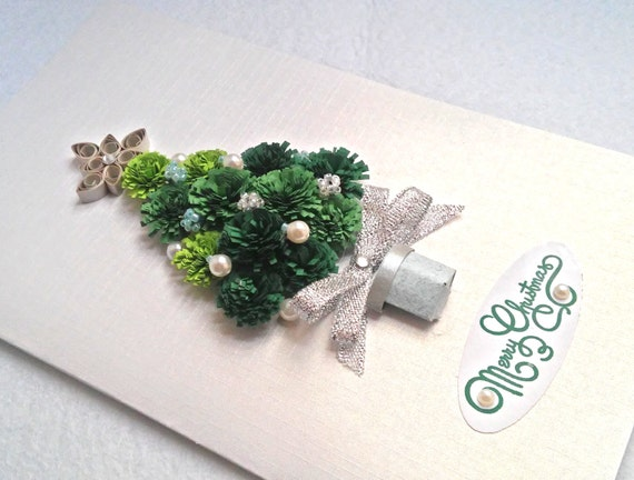 handmade christmas card quilling christmas quilling etsy