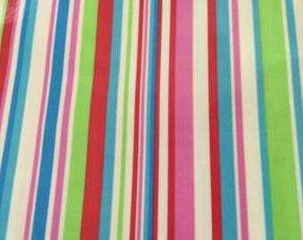 Oilcloth Fabric PVC Coated Deckchair Stripes Per Meter & Deckchair fabric | Etsy