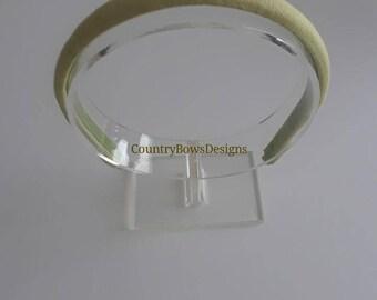 Lime Green Linen Headband-Padded Headband-Plastic Covered Headband-Women-Teens-Big Girls Headband