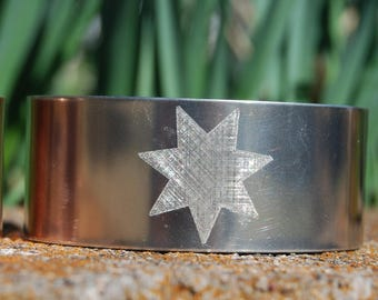 Silver Cherokee Star Bracelet, Silver Star Cuff, Native American Bracelet, Native American Jewelry, Cherokee Jewelry,