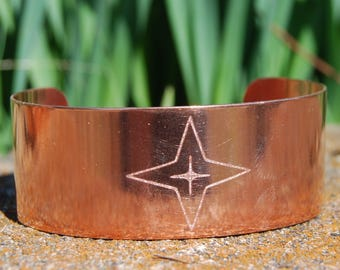 Morning Star Bracelet Copper Star Cuff Cherokee Jewelry Cherokee Bracelet
