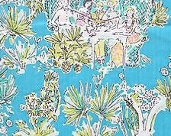 JUNGLE GLAM TOILE 12x12 or 6x6 Lilly Pulitzer fabric