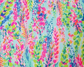 f66e82ebc5adb0 CATCH THE WAVE Cotton Blend Fabric 18x18 or 18x9 Lilly