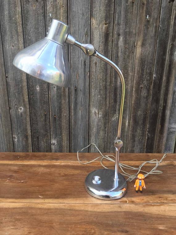 Lampe Industrielle Jumo Gs1 Chromee Et Aluminium Poli Lampe Etsy