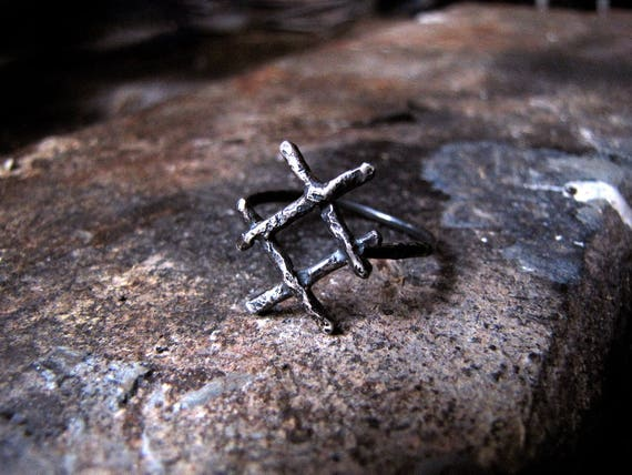 Inguz Rune Inguz Ring Viking Rune Ring Wiccan Occult Etsy