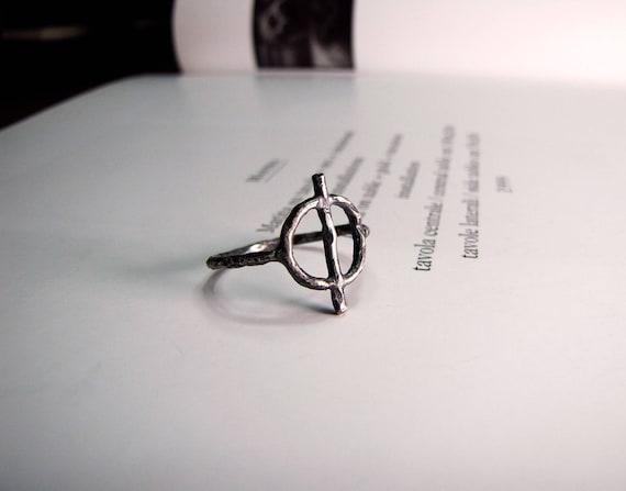Salt Symbol Salt Ring Sterling Silver Alchemy Occultism