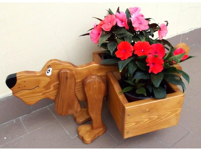Kwiat Pole Sadzarka Do Drewna Drewno Doniczka Odkryty Sadzarka Rustykalne Sadzarka Ręcznie Robione Drewniane Pudełko Ogród Pot Odkryty Kwiat