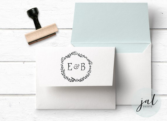 Monogram Stamp Custom Initials Wedding
