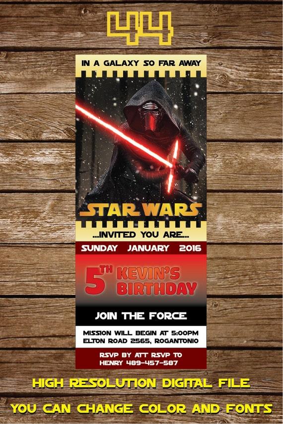 Invitación De Star Wars Gratis Tarjeta De Invitación De Cumpleaños De Star Wars Star Wars Cumpleaños Partido Invita Partido De Star Wars Para