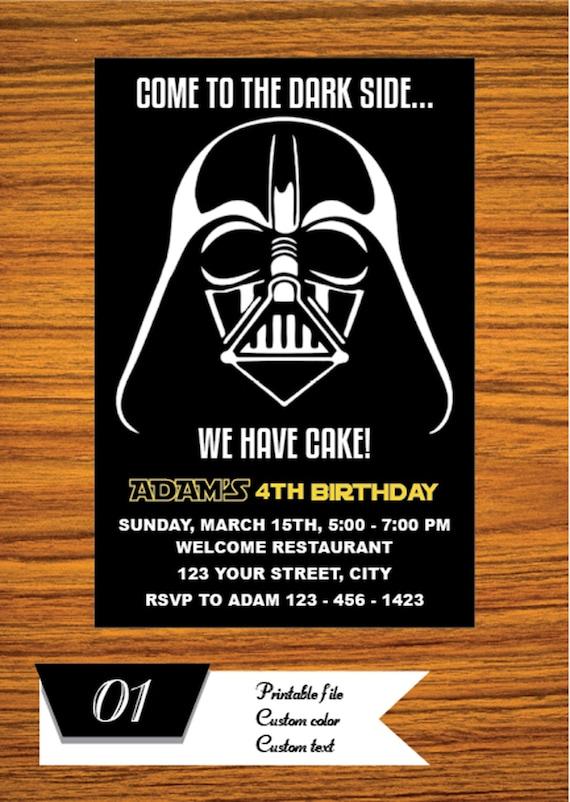 awesome star wars birthday invitation or 54 star wars birthday invitations walmart