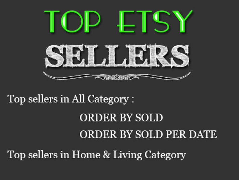 8daa3d0a2fd53 Top Etsy sellers Top selling shops Most popular shop Best sellers Top  sellers in Home Living Category Top Sellers all Category,TOP 1000 SHOP