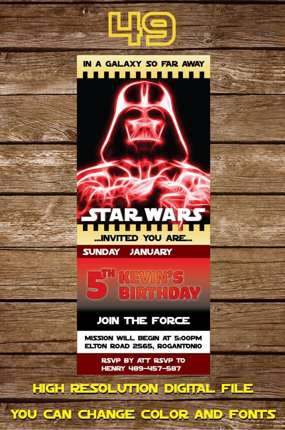 Star Wars Invitación Invitación De Cumpleaños De Star Wars Invitación Fiesta De Star Wars Star Wars Fiesta Imprimible Gratis Tarjeta De Gracias
