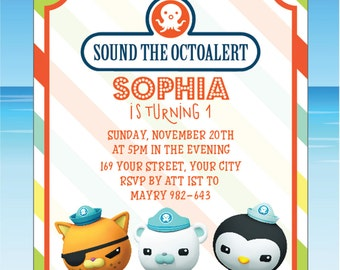 Octonauts Invitation Octonauts Birthday Invitation Octonauts