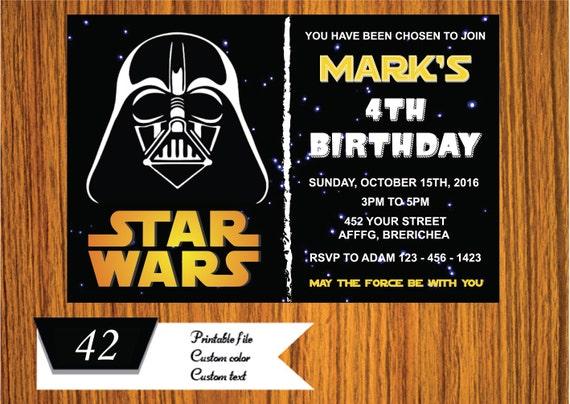 Star Wars Guerras De Invitación Invitación De La Fiesta De Star Wars Galaxy Partido Invitación Del Cumpleaños Para Imprimir De Star Wars