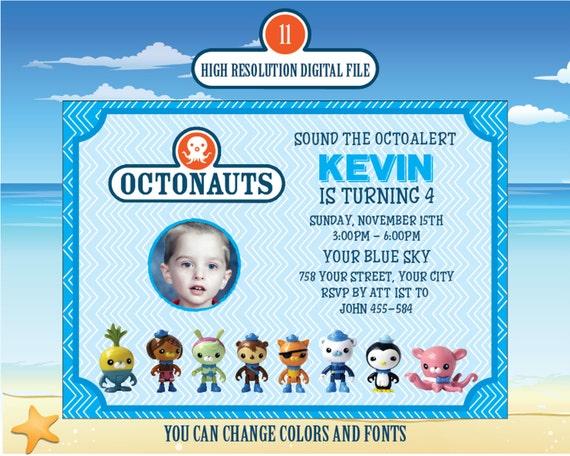 Octonauts Birthday Invitation Octonauts Etsy