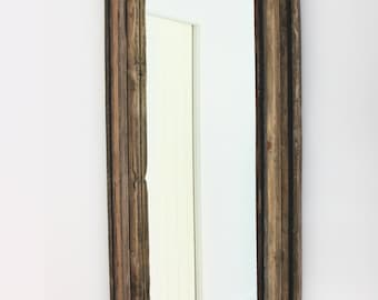 Harriot Multi Reclaimed/Recycled Wood Layered Mirror Frame - Bespoke, Made To Measure Furniture and Furnishings by www.urbangrain.co.uk
