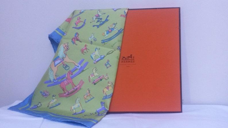 e27bb2fe510c Rare Hermes Silk Scarf in Box Raconte Moi Le | Etsy