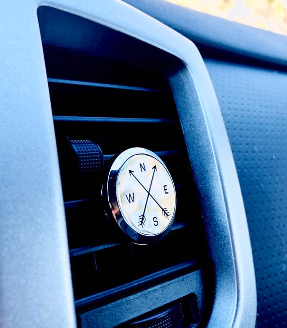 Compass & Arrows Stainless Steel Car Diffuser - Aromatherapy Car Diffuser Vent Clip - Vehicle Air Freshner