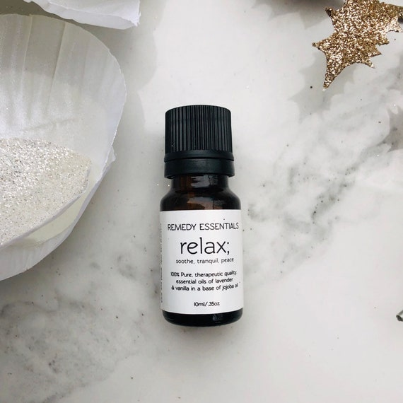 Relax Essential Oil Blend - Relaxation Aromatherapy Oils - Calming Oil Blend