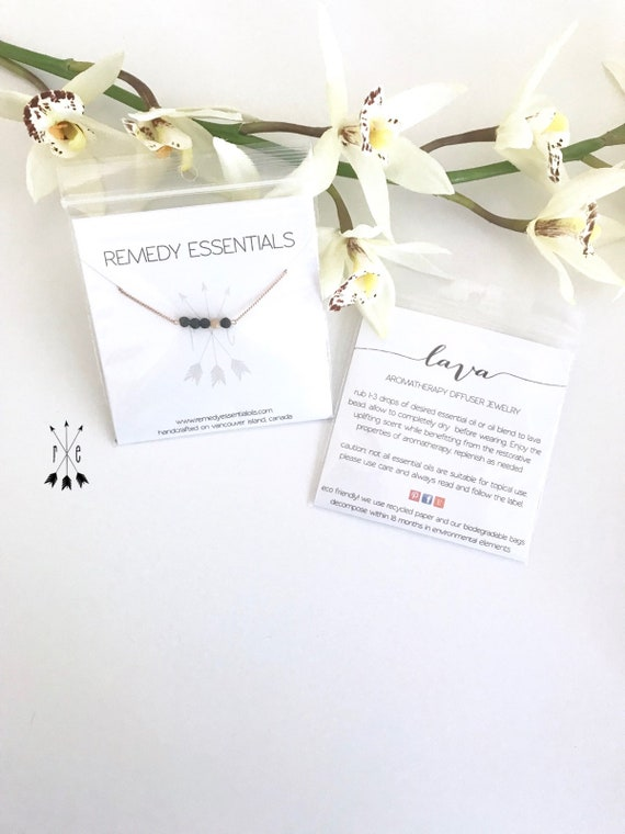 Moonstone & Lava Aromatherapy Diffuser Choker Necklace; Rose Gold, Stainless Steel, or Sterling Silver Chain; Lava Stone Diffuser Necklace