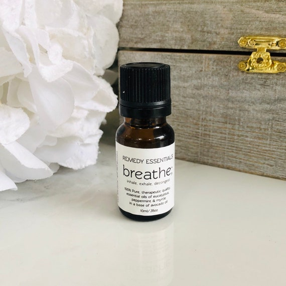 Breathe Essential Oil Blend - Respiratory Aid - Aromatherapy Oils for Cold & Flu Season
