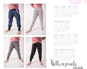 PDF- mönster The Four Pants Collection stl 50-170