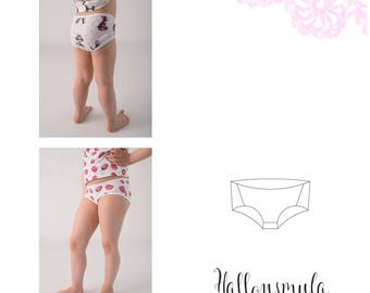 PDF- mönster Twisted panties stl 74/80 - 158/164
