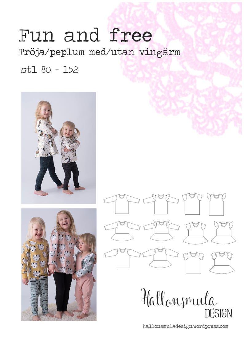 PDF mönster Fun and free  tröja och peplumtopp med olika image 0