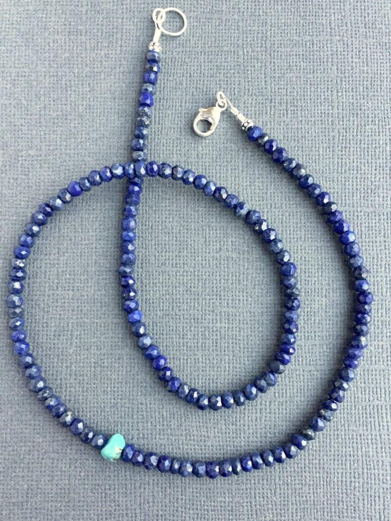 25ad21ac9 Lapis Sleeping Beauty Turquoise Necklace Boho Beaded Simple | Etsy