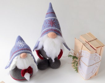 Norwegian gnomes, needle felted Tomte Nisse, woolen elf doll, felted gnomes, scandi decor toy, Christmas gift, hygge decor, swedish santa