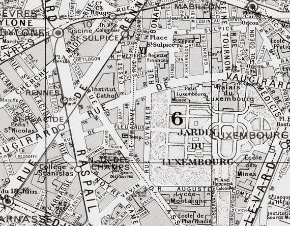 Map Of Paris France 6th Arrondissement.Paris Arrondissement Map 6th Arrondissement Luxembourg Map Paris Map Classic Paris Map Fine Art Paris French Chic City Of Light Art