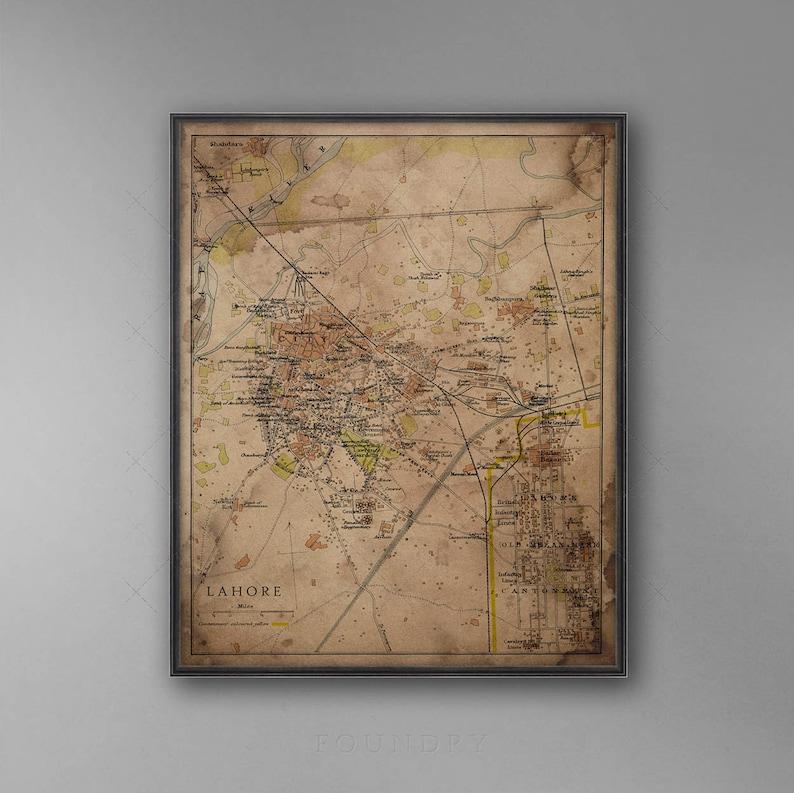 La Map - Pakistan Map - Vintage La - India Map - Circa 1897 La - Punjab Indian City Of Punjab Maps on map of indian subcontinent, map of punjab before 1947, map of indian sindh, map of punjab region, map of indian asia,
